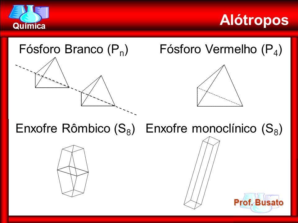 Alótropos Fósforo Branco (Pn) Fósforo Vermelho (P4)