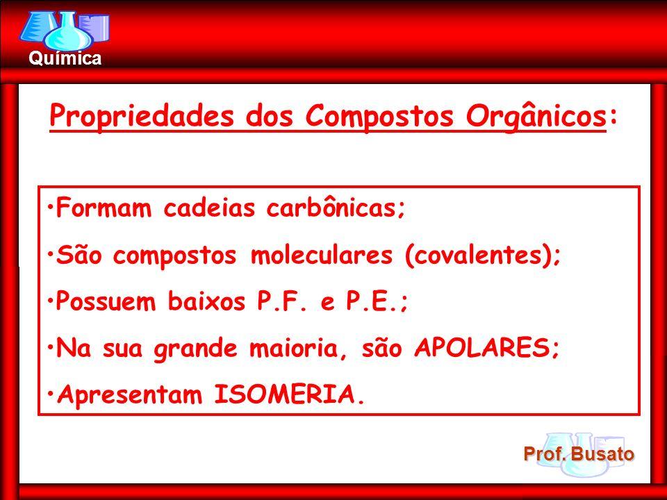 Propriedades dos Compostos Orgânicos: