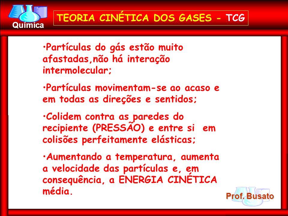 TEORIA CINÉTICA DOS GASES - TCG