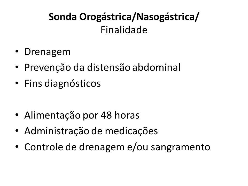 Sonda Orogástrica/Nasogástrica/ Finalidade
