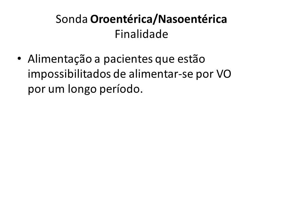 Sonda Oroentérica/Nasoentérica Finalidade