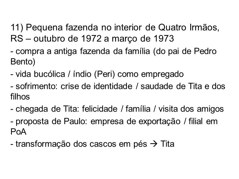 11) Pequena fazenda no interior de Quatro Irmãos, RS – outubro de 1972 a março de 1973