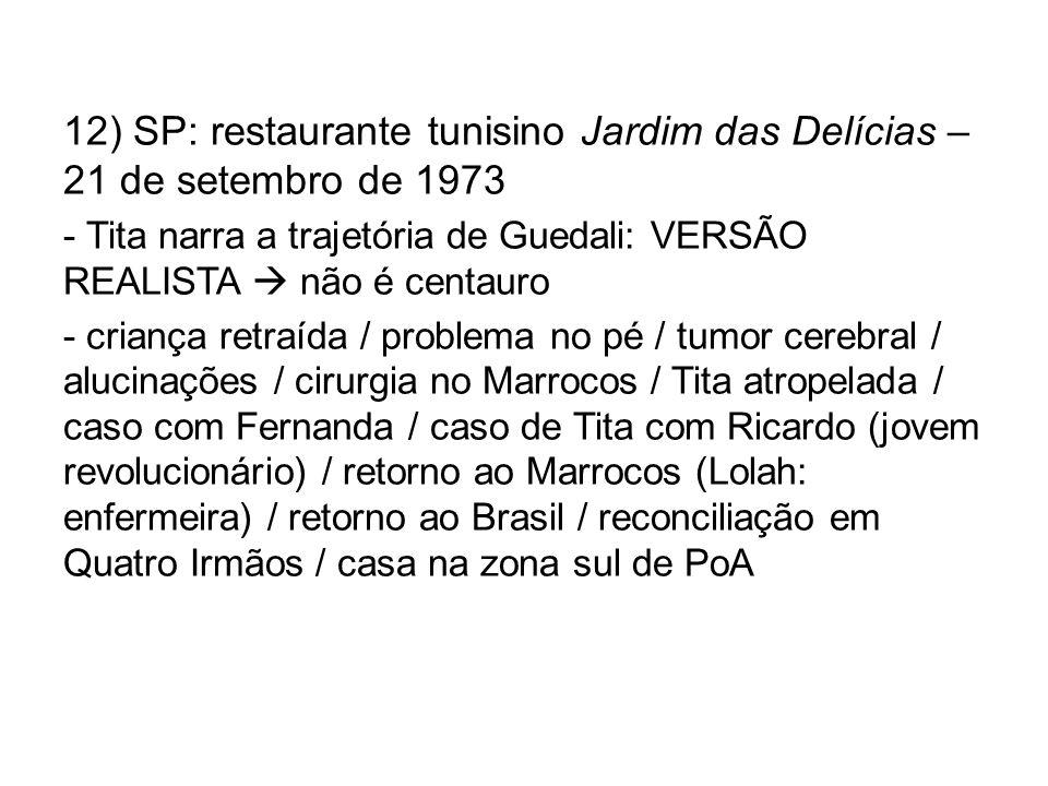 12) SP: restaurante tunisino Jardim das Delícias – 21 de setembro de 1973