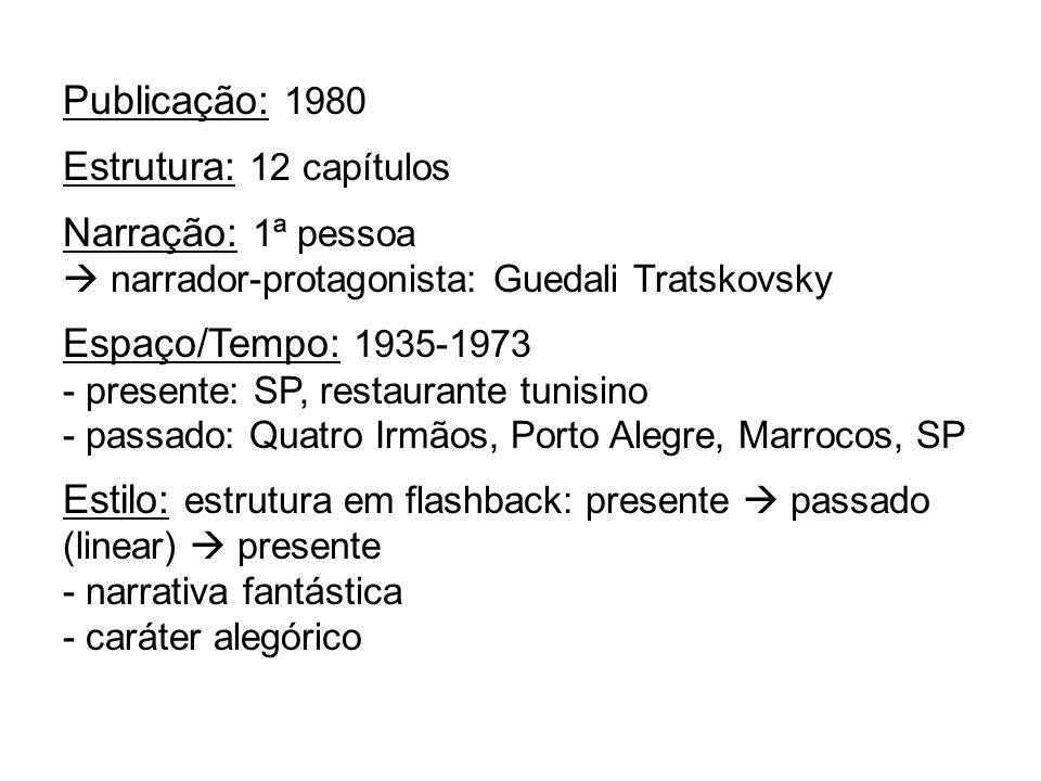 Estilo: estrutura em flashback: presente  passado (linear)  presente