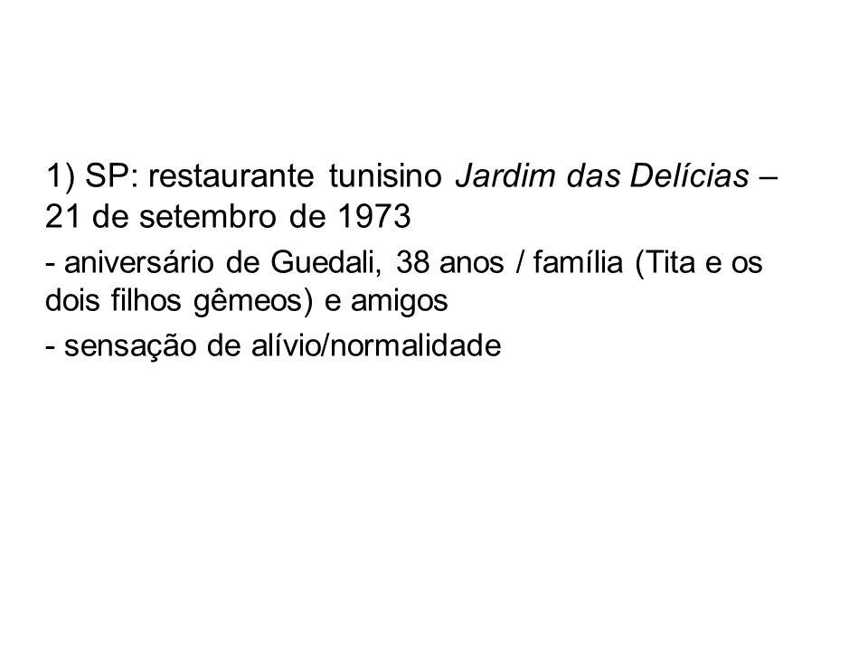 1) SP: restaurante tunisino Jardim das Delícias – 21 de setembro de 1973