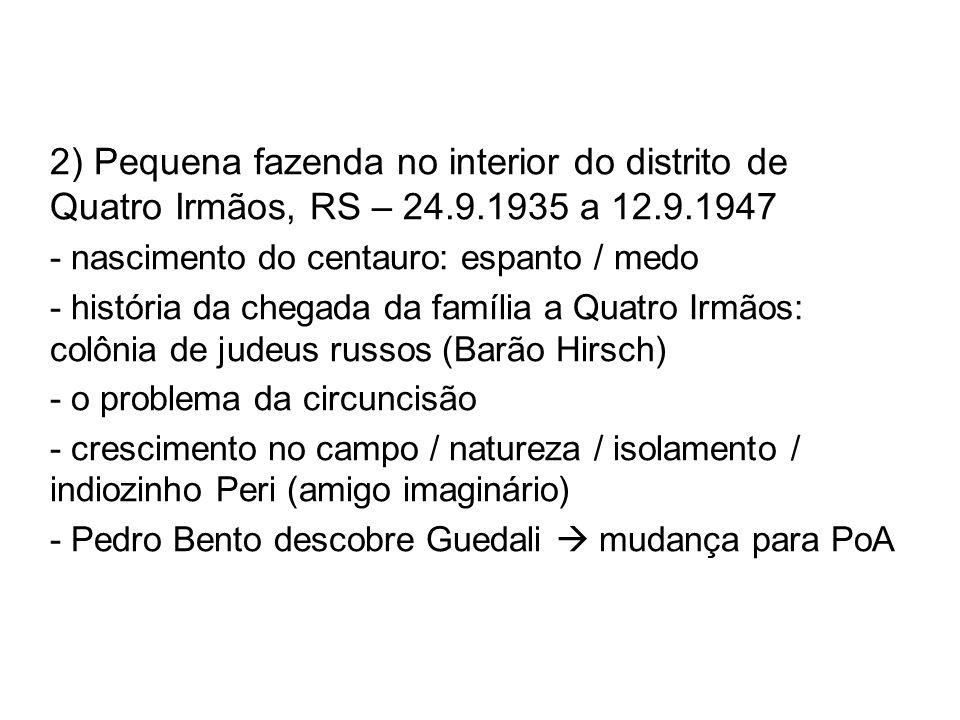 2) Pequena fazenda no interior do distrito de Quatro Irmãos, RS – 24.9.1935 a 12.9.1947