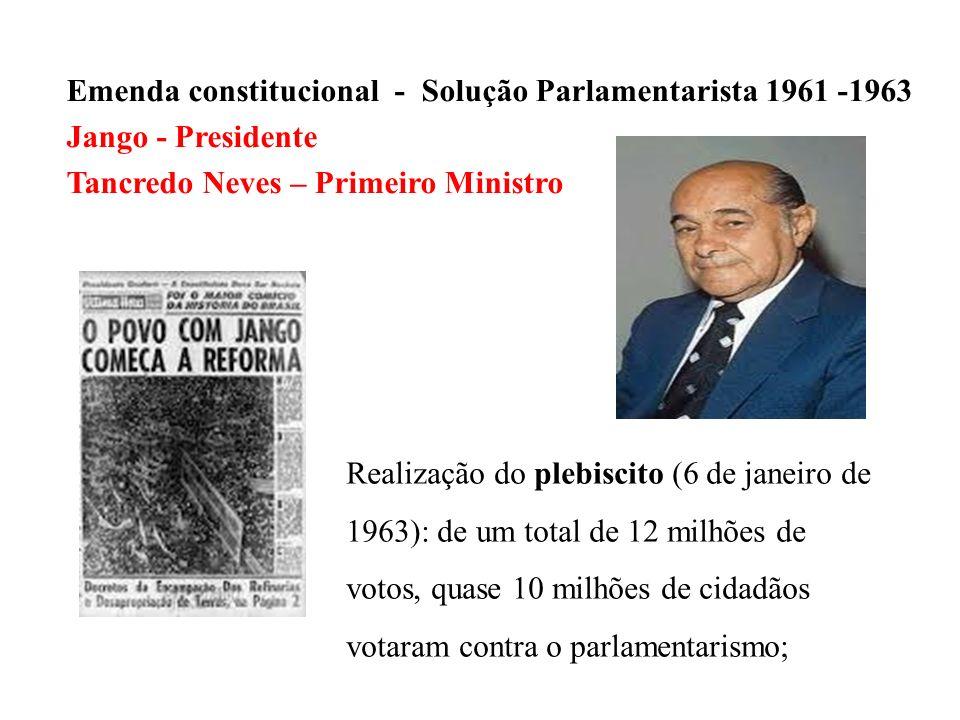 Emenda constitucional - Solução Parlamentarista 1961 -1963