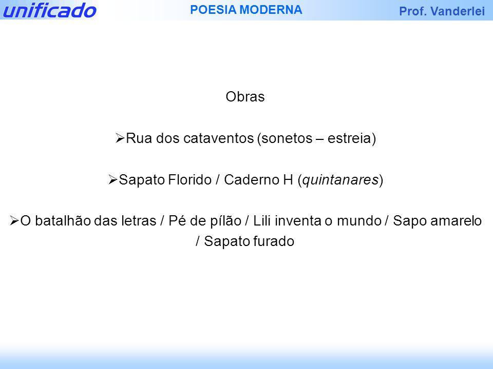 Rua dos cataventos (sonetos – estreia)