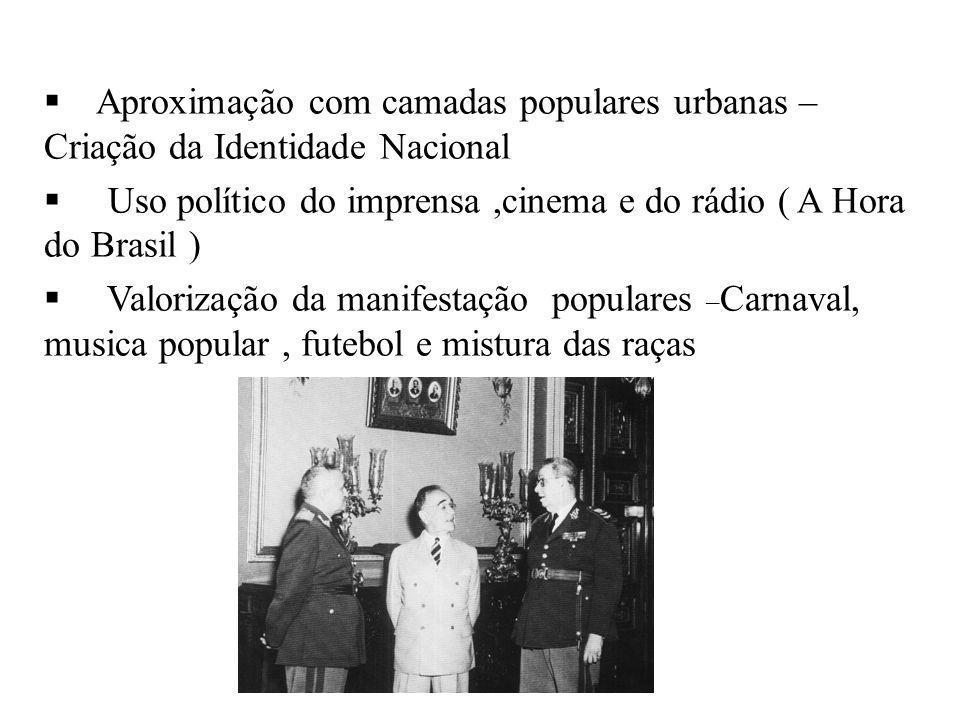 Aproximação com camadas populares urbanas – Criação da Identidade Nacional