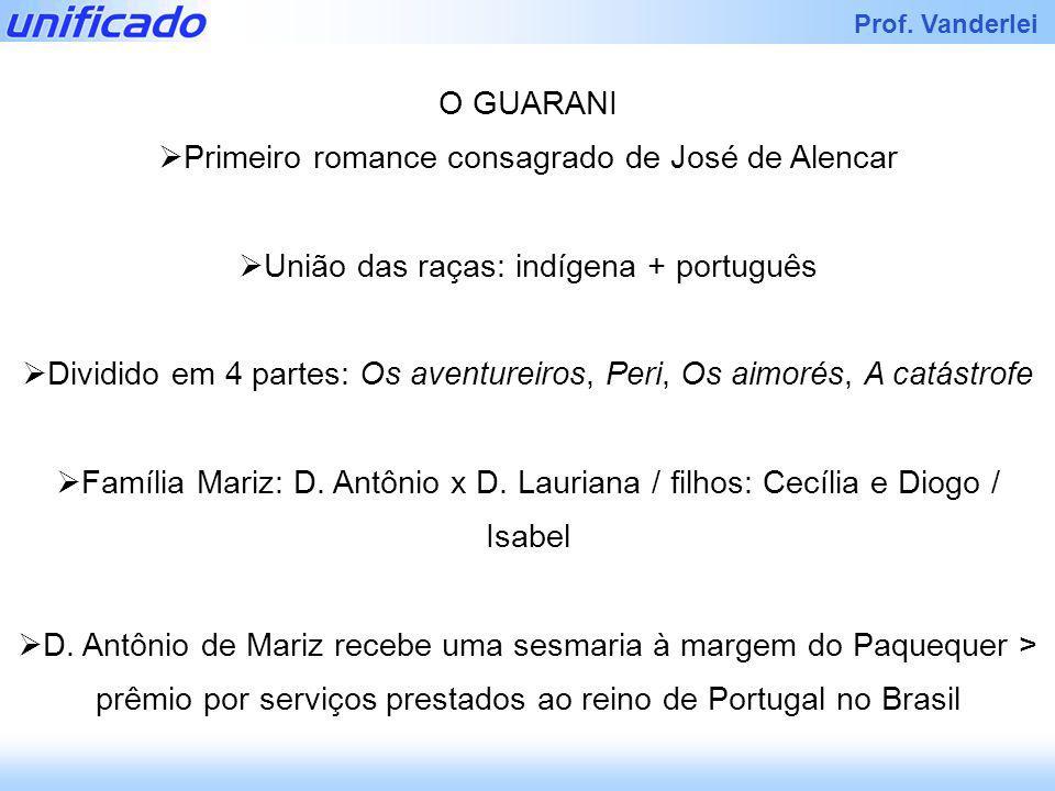 Primeiro romance consagrado de José de Alencar