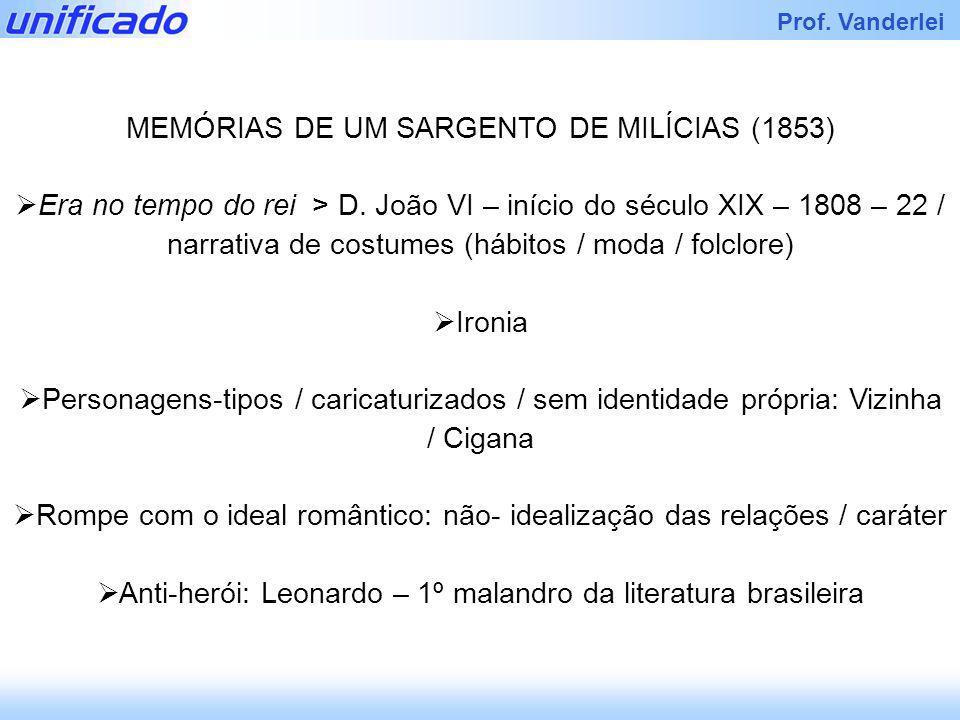 MEMÓRIAS DE UM SARGENTO DE MILÍCIAS (1853)
