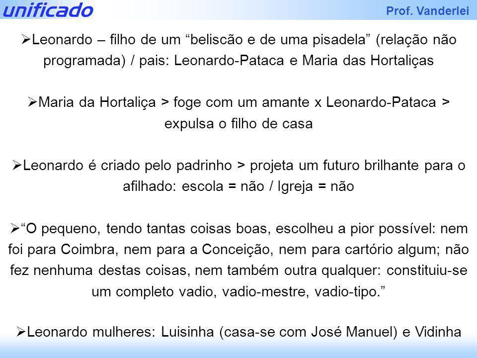 Leonardo mulheres: Luisinha (casa-se com José Manuel) e Vidinha