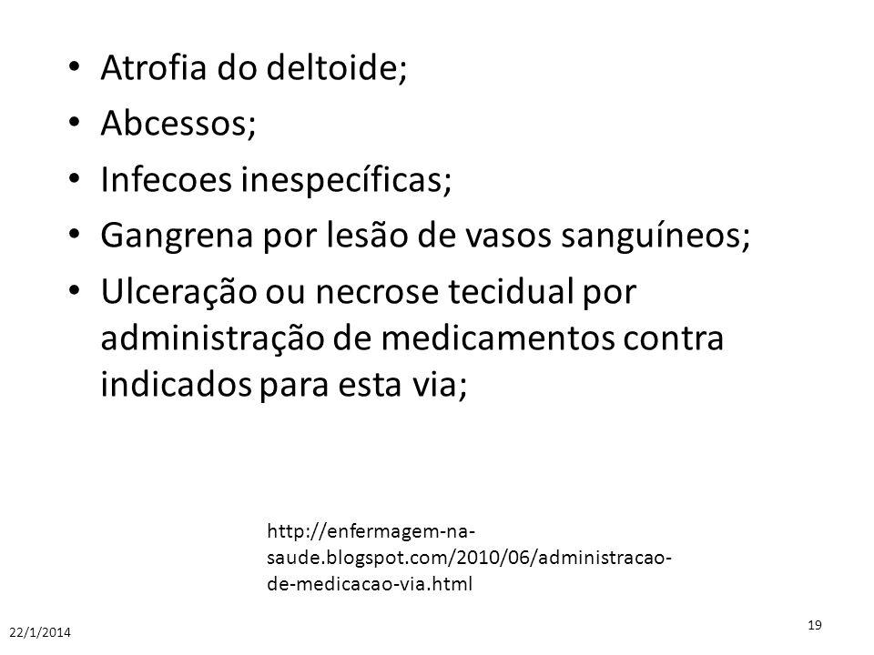 Infecoes inespecíficas; Gangrena por lesão de vasos sanguíneos;