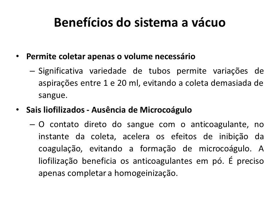 Benefícios do sistema a vácuo