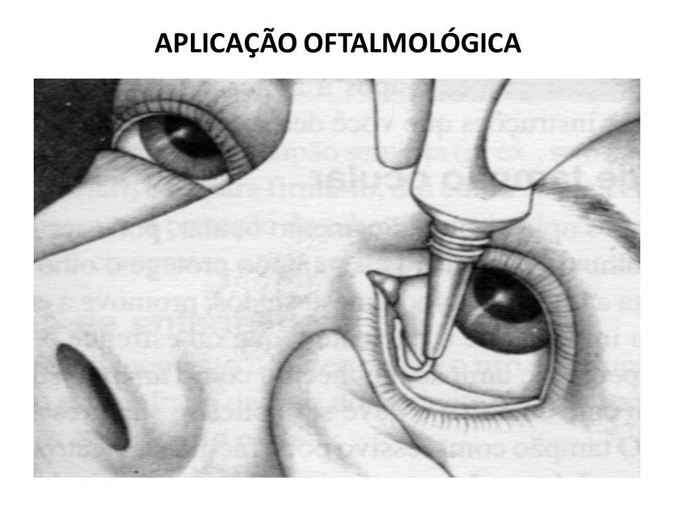 APLICAÇÃO OFTALMOLÓGICA