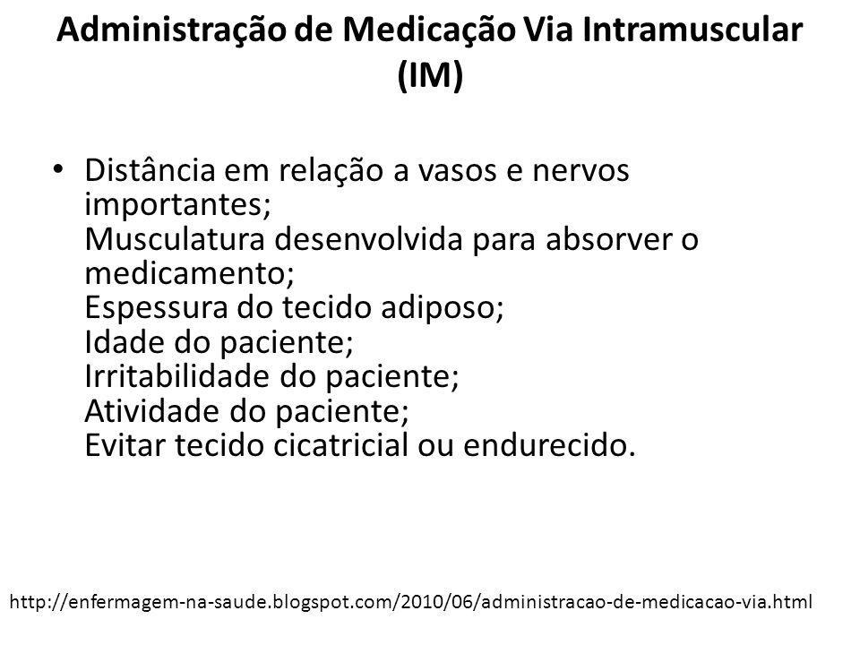 Administração de Medicação Via Intramuscular (IM)