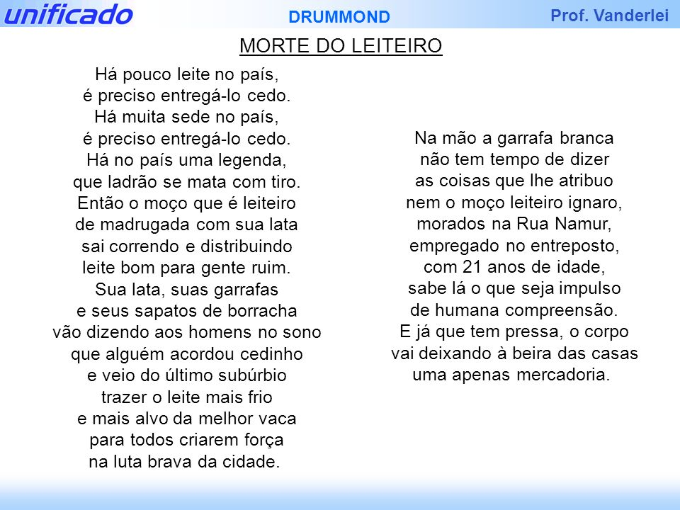 MORTE DO LEITEIRO