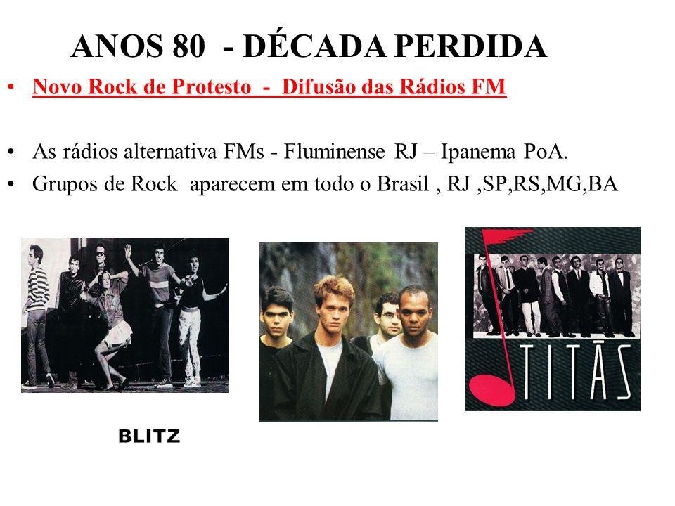 ANOS 80 - DÉCADA PERDIDA Novo Rock de Protesto - Difusão das Rádios FM
