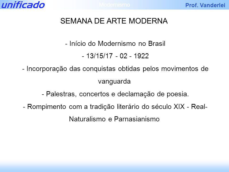SEMANA DE ARTE MODERNA - Início do Modernismo no Brasil