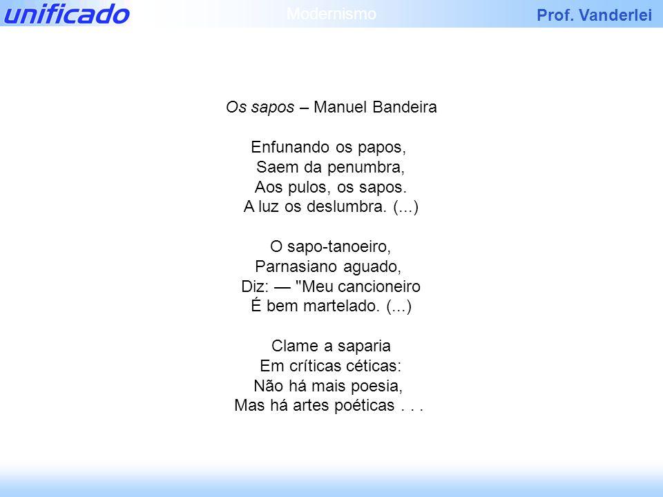 Os sapos – Manuel Bandeira