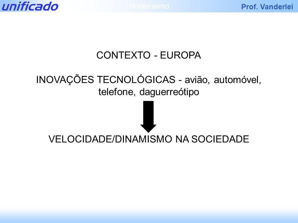 INOVAÇÕES TECNOLÓGICAS - avião, automóvel, telefone, daguerreótipo