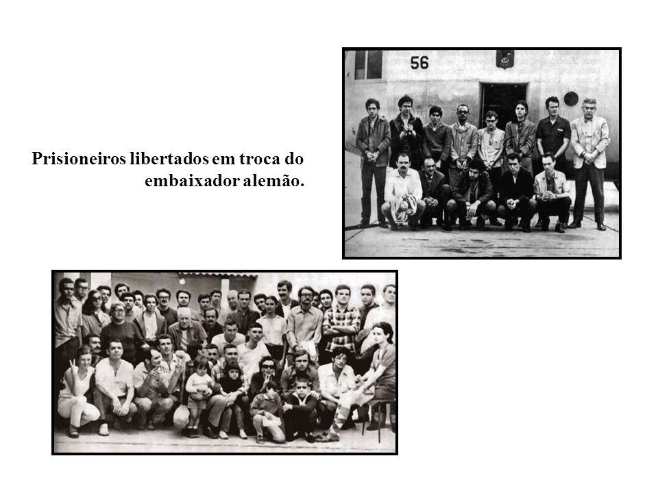 Prisioneiros libertados em troca do embaixador alemão.