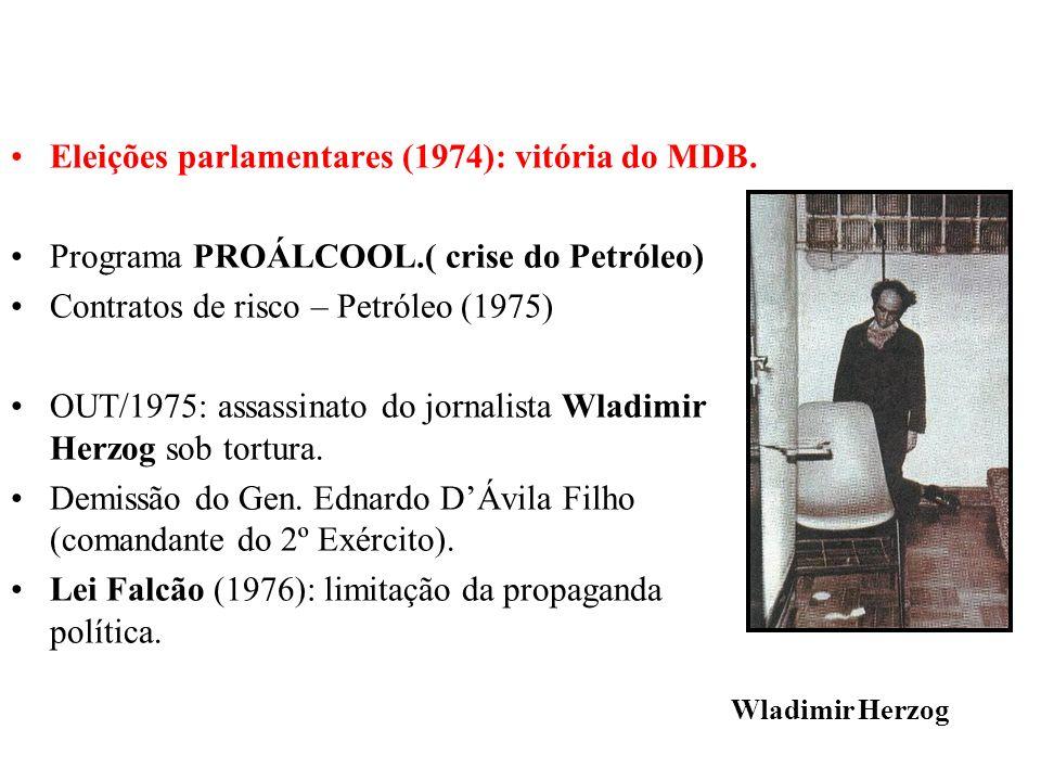 Eleições parlamentares (1974): vitória do MDB.