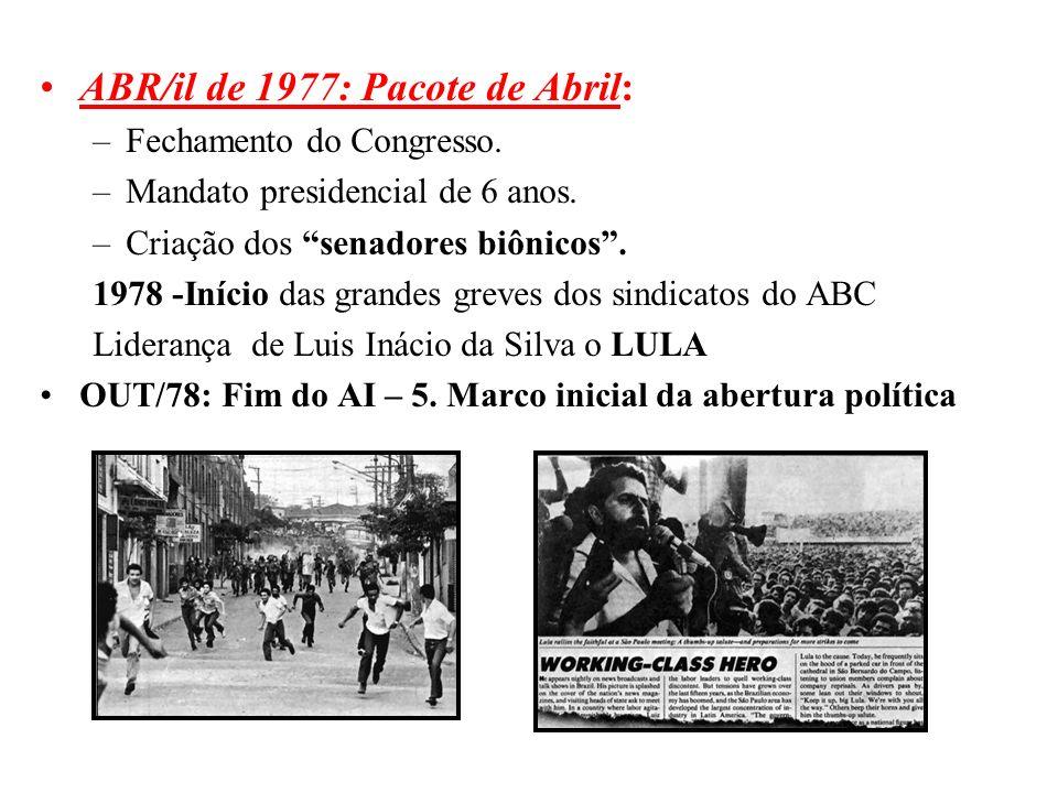 ABR/il de 1977: Pacote de Abril: