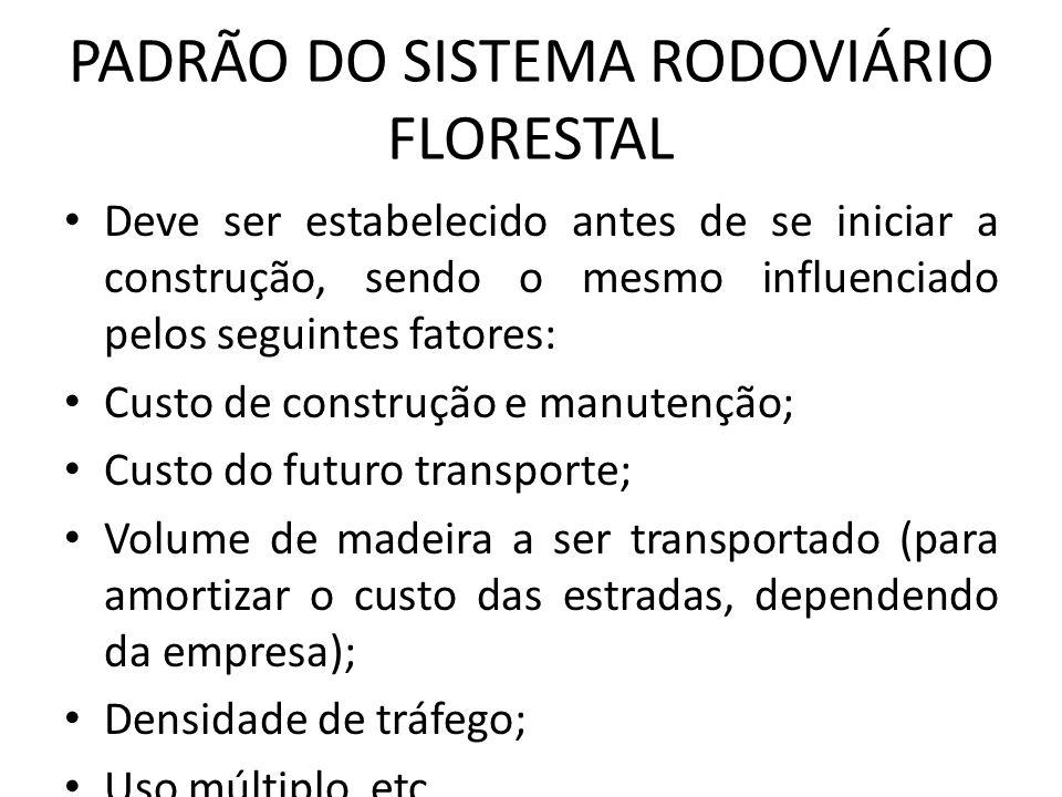 PADRÃO DO SISTEMA RODOVIÁRIO FLORESTAL