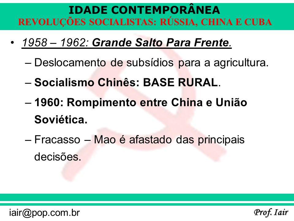1958 – 1962: Grande Salto Para Frente.