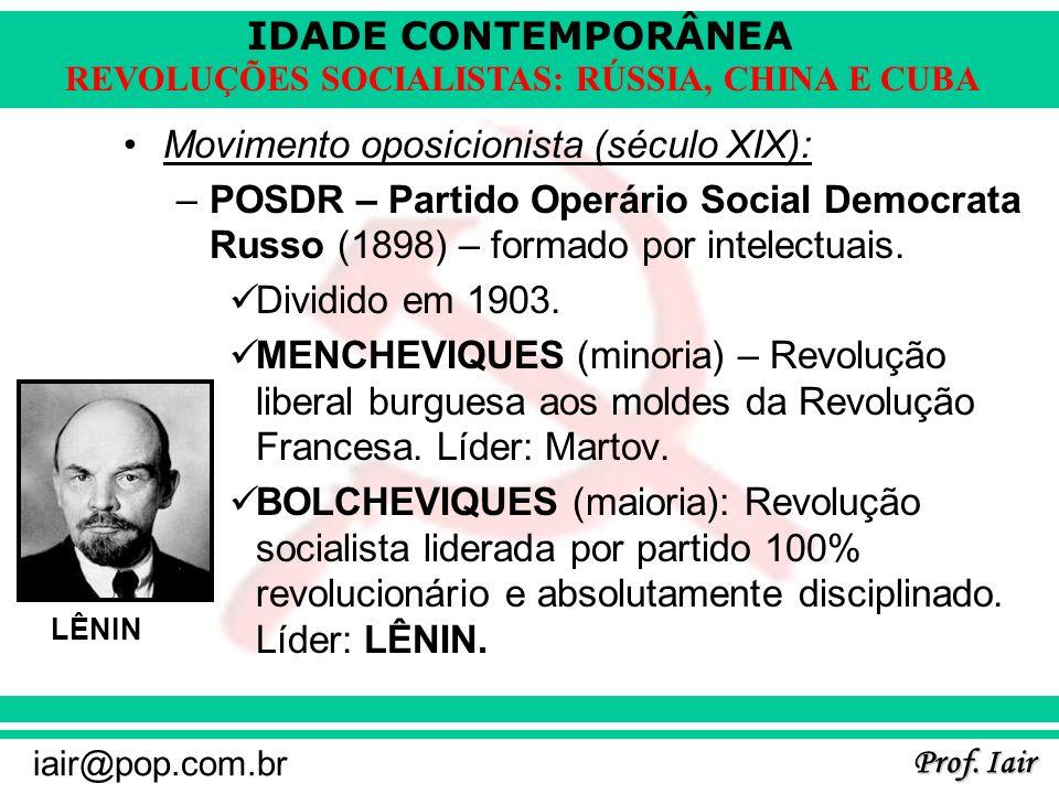 Movimento oposicionista (século XIX):