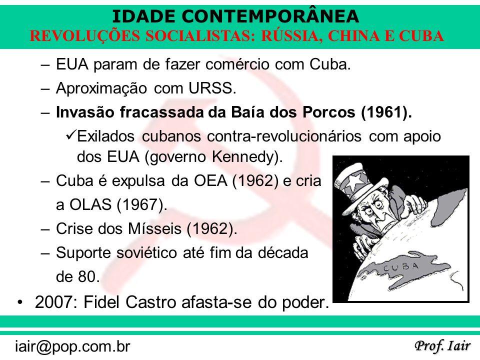 2007: Fidel Castro afasta-se do poder.