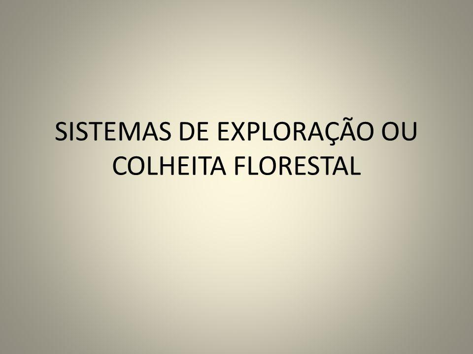 SISTEMAS DE EXPLORAÇÃO OU COLHEITA FLORESTAL