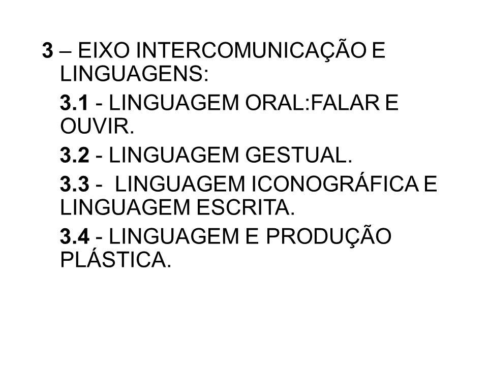 3 – EIXO INTERCOMUNICAÇÃO E LINGUAGENS:
