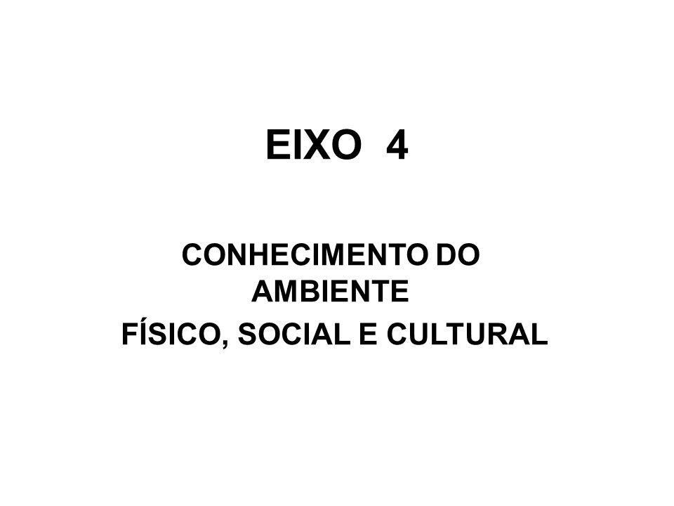 CONHECIMENTO DO AMBIENTE FÍSICO, SOCIAL E CULTURAL