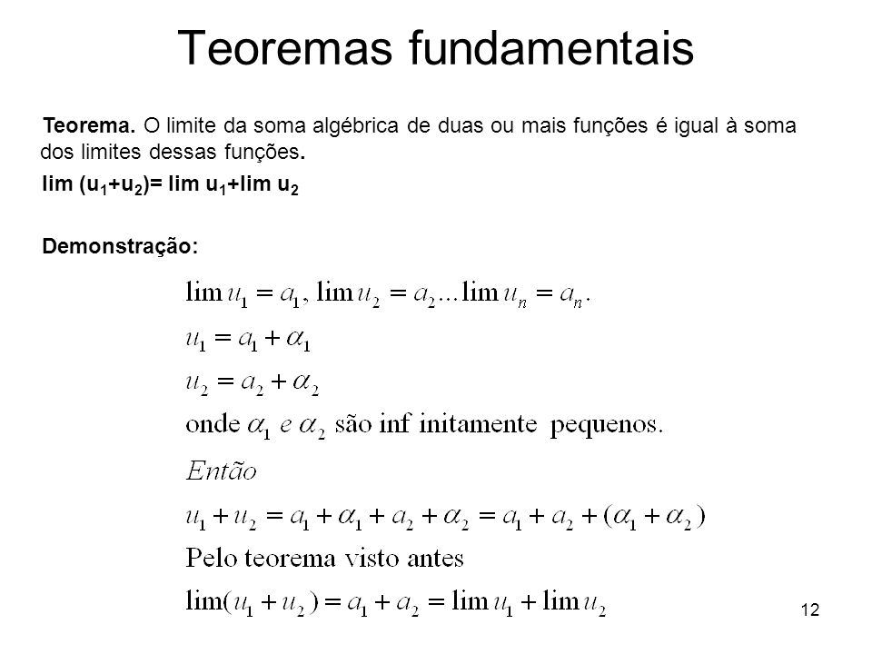 Teoremas fundamentais