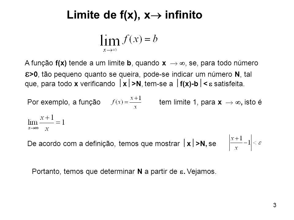 Limite de f(x), x infinito
