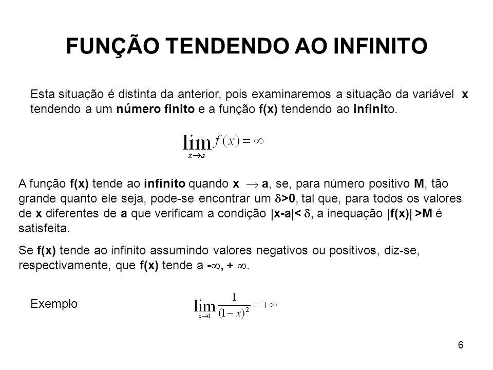 FUNÇÃO TENDENDO AO INFINITO