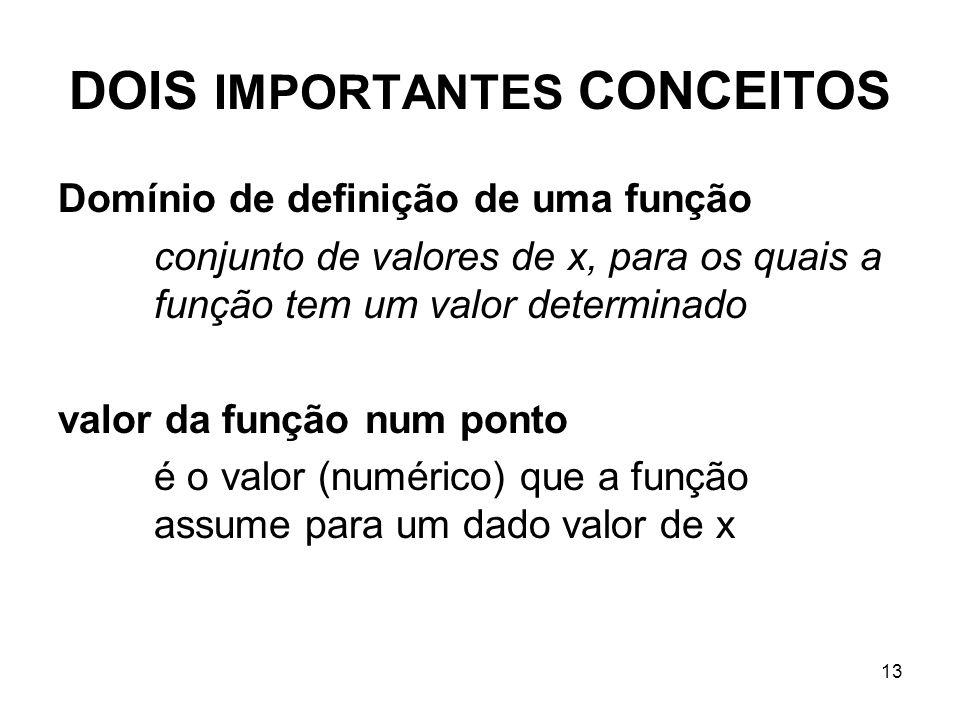 DOIS IMPORTANTES CONCEITOS