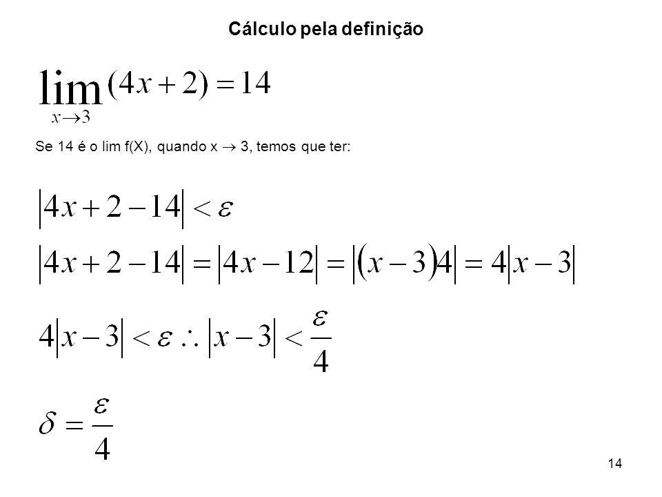 Cálculo pela definição