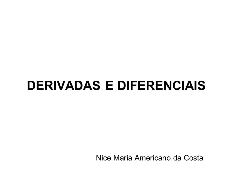 DERIVADAS E DIFERENCIAIS