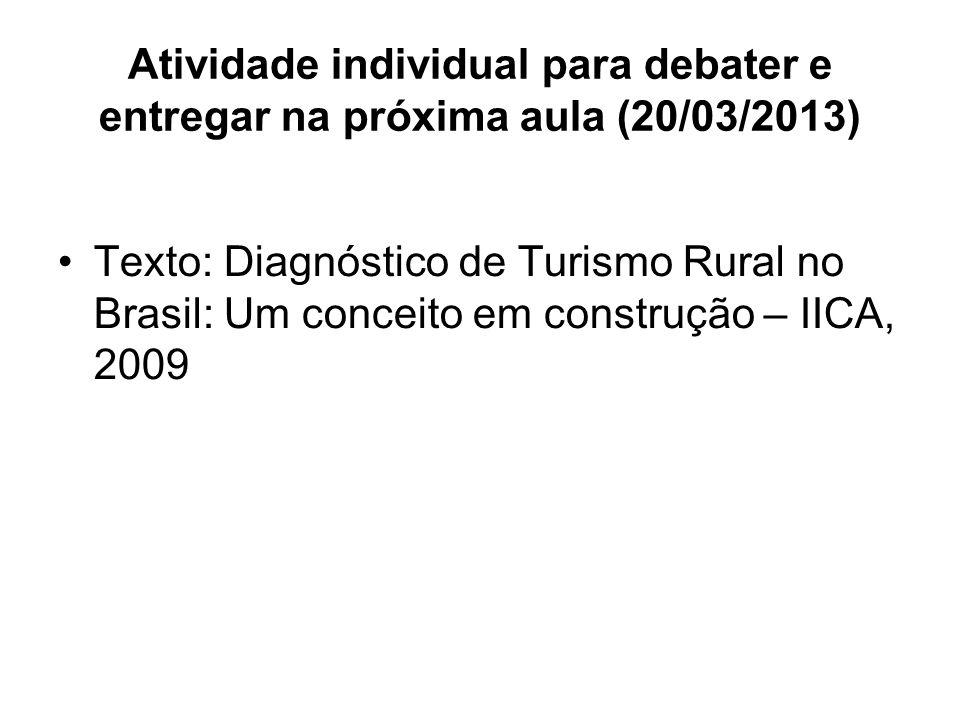 Atividade individual para debater e entregar na próxima aula (20/03/2013)