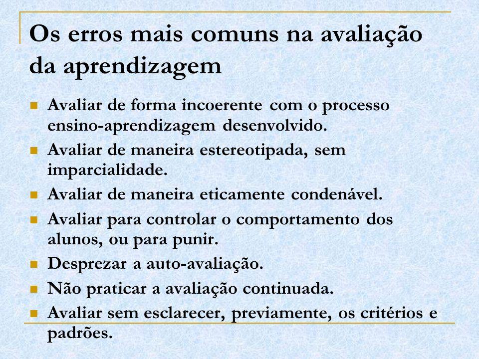 Os erros mais comuns na avaliação da aprendizagem