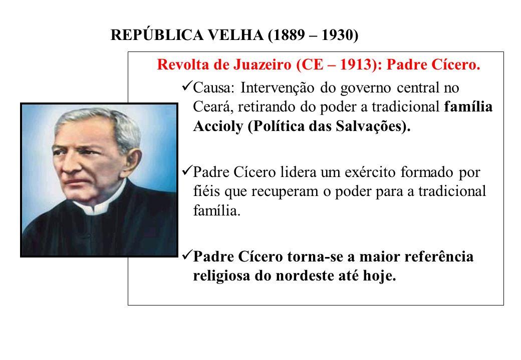 Revolta de Juazeiro (CE – 1913): Padre Cícero.