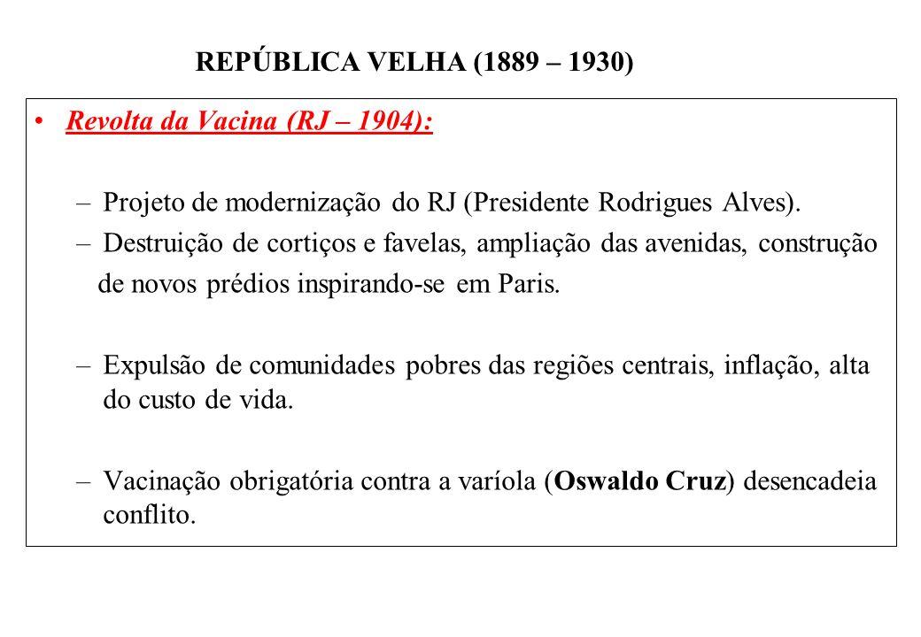 Revolta da Vacina (RJ – 1904):