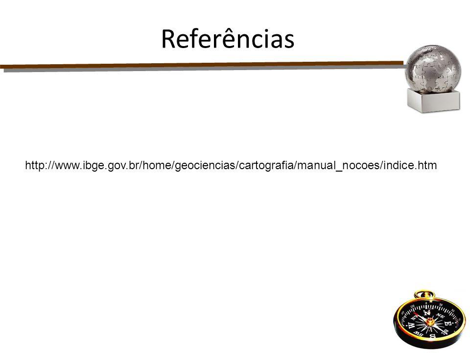 Referências http://www.ibge.gov.br/home/geociencias/cartografia/manual_nocoes/indice.htm 40