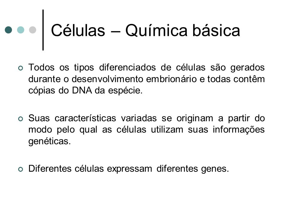 Células – Química básica