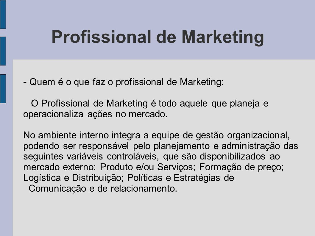 Profissional de Marketing