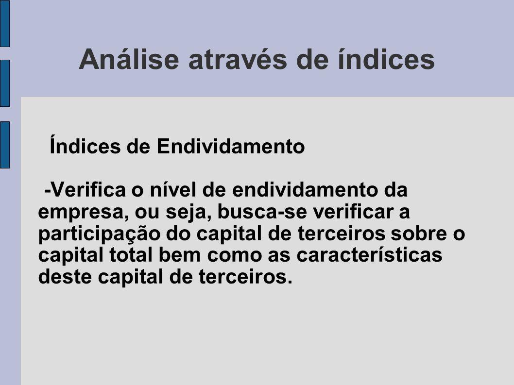 Análise através de índices