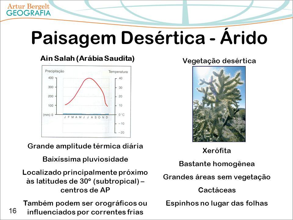 Paisagem Desértica - Árido
